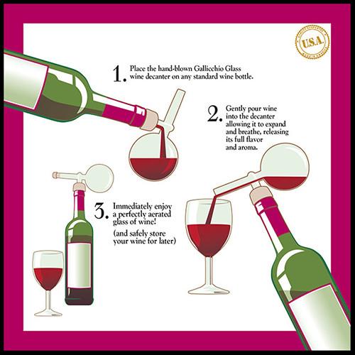 Gallicchio Glass Wine Aerators Wine Decanters