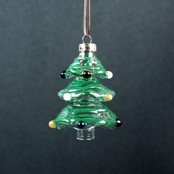 Gallicchio Glass Christmas Tree Ornament-Green