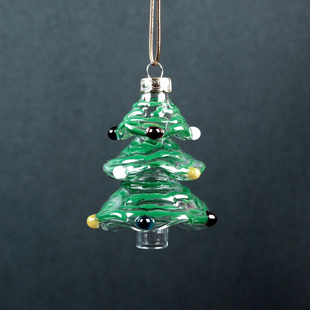 Hand blown glass christmas tree ornaments gallicchio