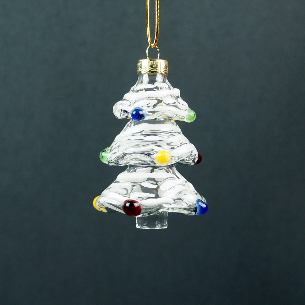 Hand Blown Glass Christmas Tree Ornaments